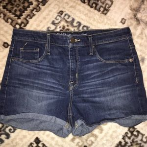 Cuffed Blue Jean Shorts